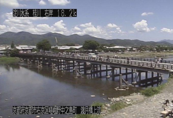 桂川嵐山渡月橋ライブカメラ(京都府京都市右京区)