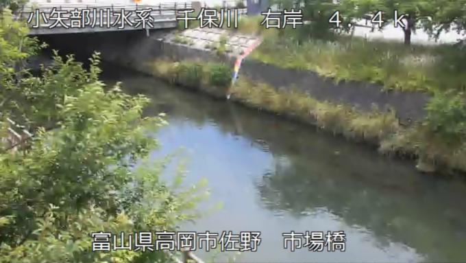 千保川市場橋ライブカメラ(富山県高岡市佐野)