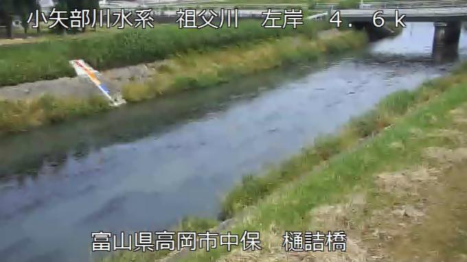 祖父川樋詰橋ライブカメラ(富山県高岡市中保)