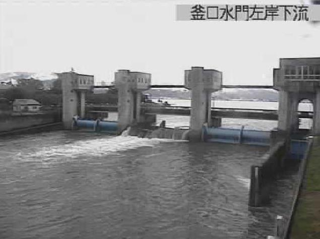 諏訪湖釜口水門左岸下流ライブカメラ(長野県岡谷市湊)