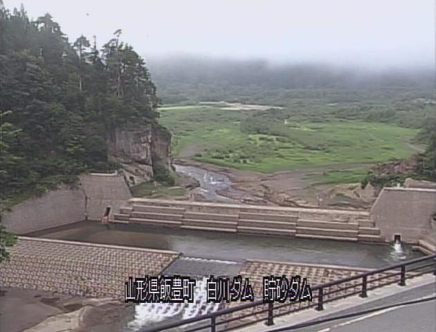 白川ダム貯砂ダムライブカメラ(山形県飯豊町)