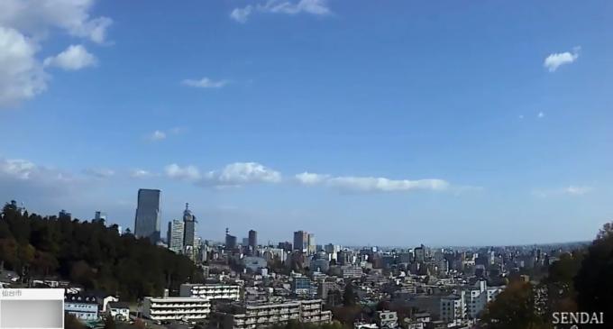 仙台西観測所ライブカメラ(宮城県仙台市)