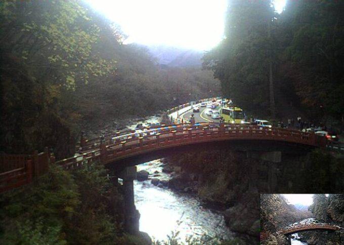 下野新聞日光二荒山神社神橋ライブカメラ(栃木県日光市上鉢石町)