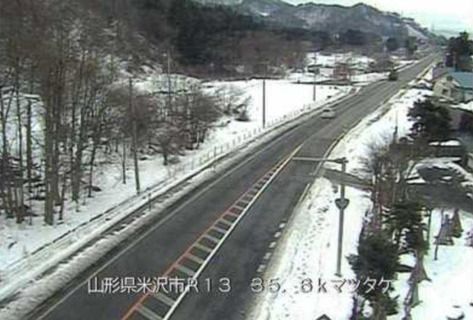 国道13号マツタケラインライブカメラ(山形県米沢市万世町梓山)