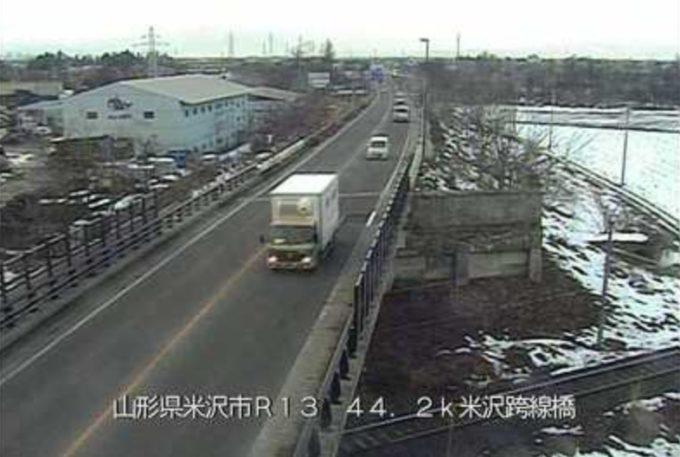 国道13号米沢跨線橋ライブカメラ(山形県米沢市花沢)