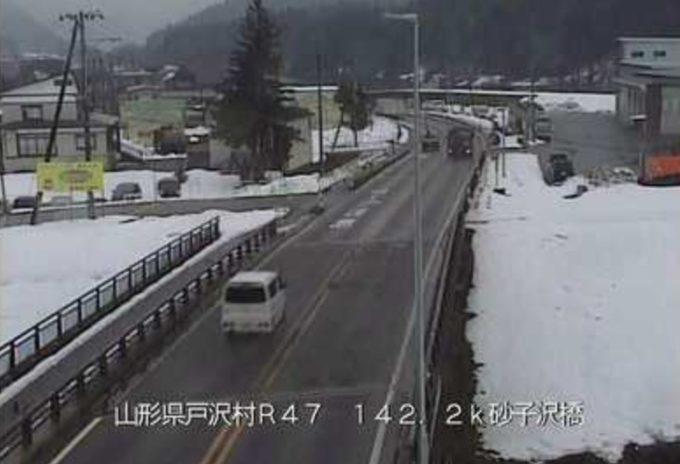 国道47号砂子沢橋ライブカメラ(山形県戸沢村古口)