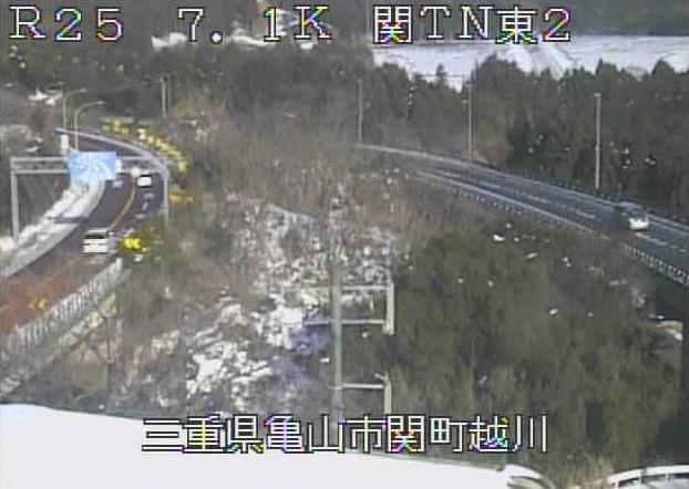 名阪国道関トンネル東第2ライブカメラ(三重県亀山市関町越川)