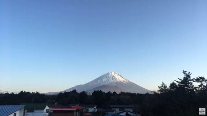 精進湖民宿村富士山ライブカメラ(山梨県富士河口湖町精進)