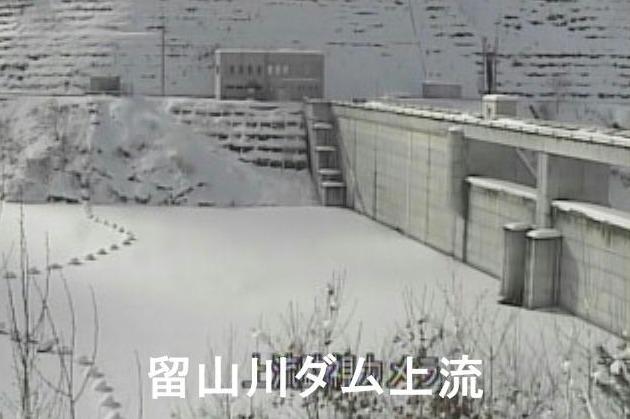 留山川ダム上流ライブカメラ(山形県天童市山口)