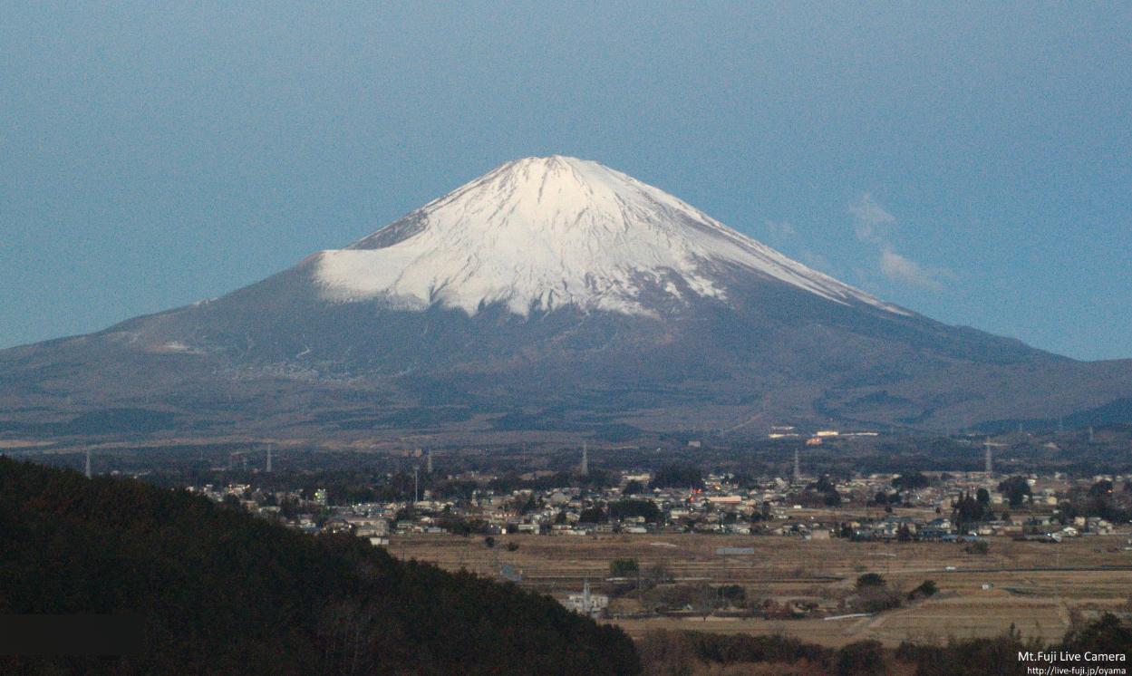 ずっと富士山小山町ライブカメラ(静岡県小山町竹之下)