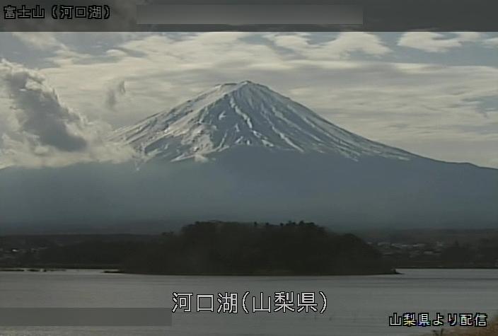 河口湖富士山ライブカメラ(山梨県富士河口湖町大石)