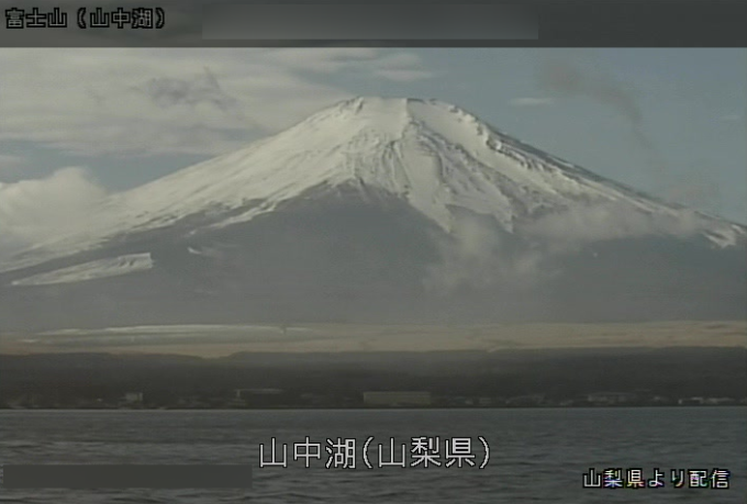 山中湖富士山ライブカメラ(山梨県山中湖村平野)