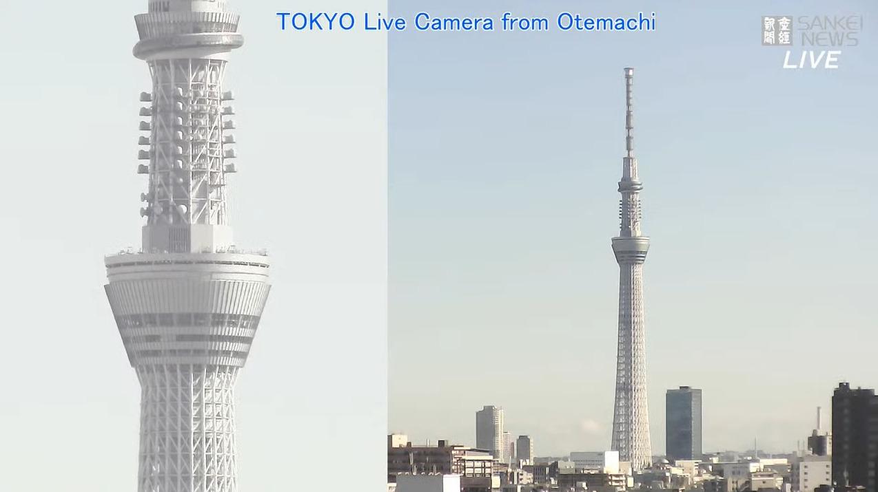 産経新聞東京上空天気ライブカメラ(東京都千代田区大手町)
