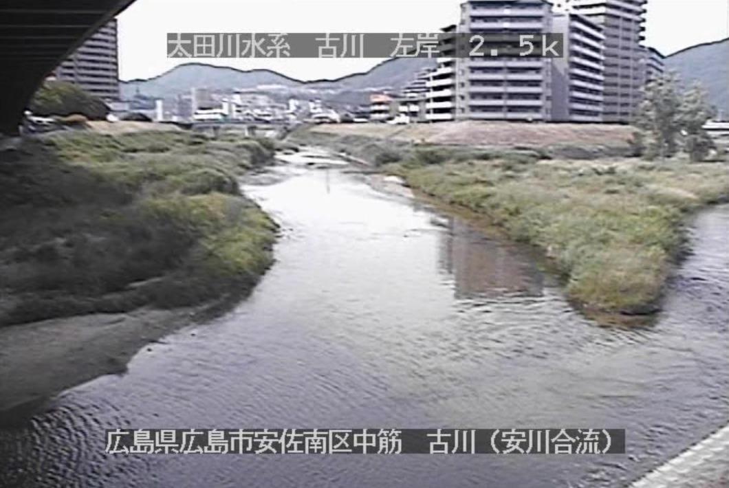 古川安川合流点ライブカメラ(広島県広島市安佐南区)