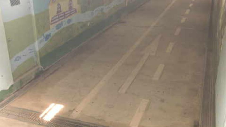 群馬県道311号新田上江田尾島線木崎地下道ライブカメラ(群馬県館林市岡野町)