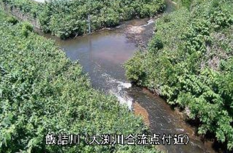 飯詰川大渕川合流点付近ライブカメラ(青森県五所川原市飯詰)