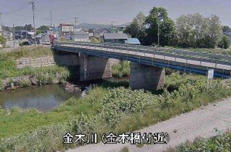 金木川金木橋ライブカメラ(青森県五所川原市金木町)