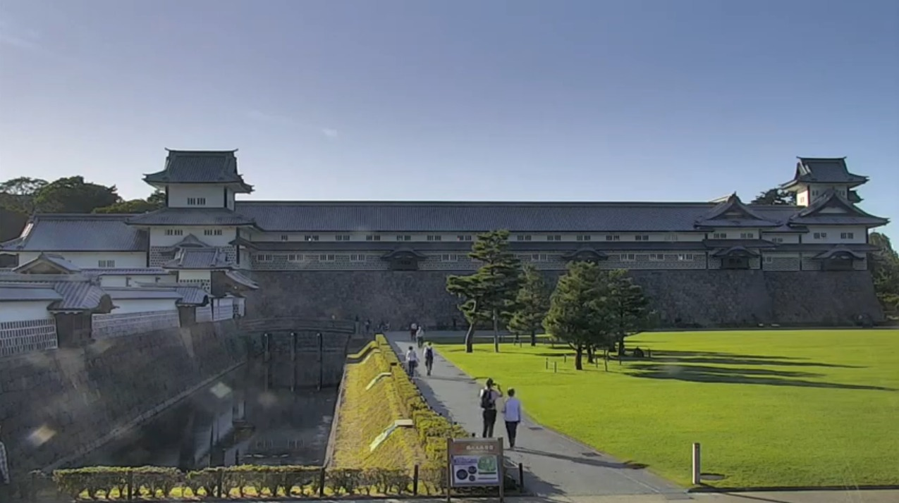 金沢城公園三の丸広場ライブカメラ(石川県金沢市丸の内)