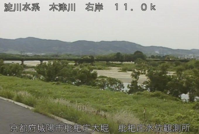 木津川枇杷庄水位観測所ライブカメラ(京都府城陽市枇杷庄)