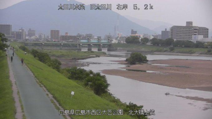 旧太田川北大橋上流ライブカメラ(広島県広島市西区)