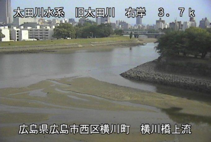 旧太田川横川橋上流ライブカメラ(広島県広島市西区)