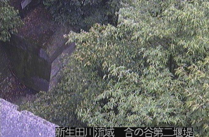 新生田川流域合の谷第二堰提ライブカメラ(兵庫県神戸市中央区)