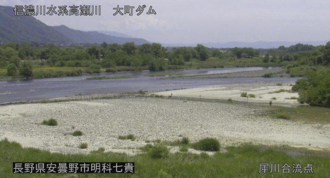 高瀬川犀川合流点ライブカメラ(長野県安曇野市明科七貴)