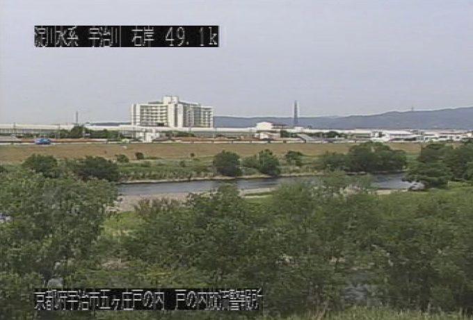 宇治川戸の内放流警報所ライブカメラ(京都府宇治市五ケ庄)