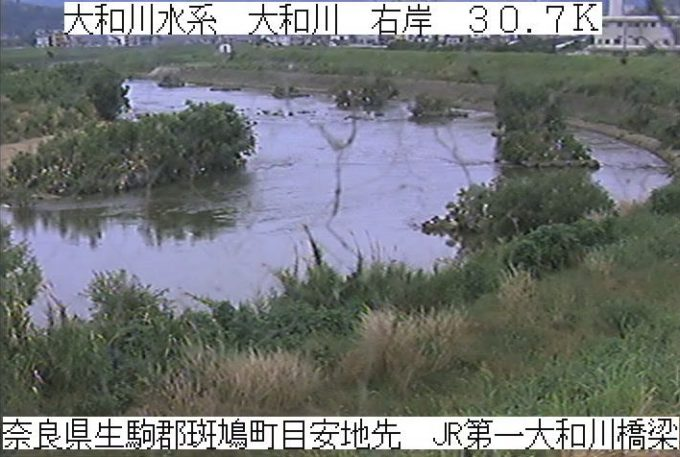 大和川JR第1大和川橋梁ライブカメラ(奈良県斑鳩町目安)