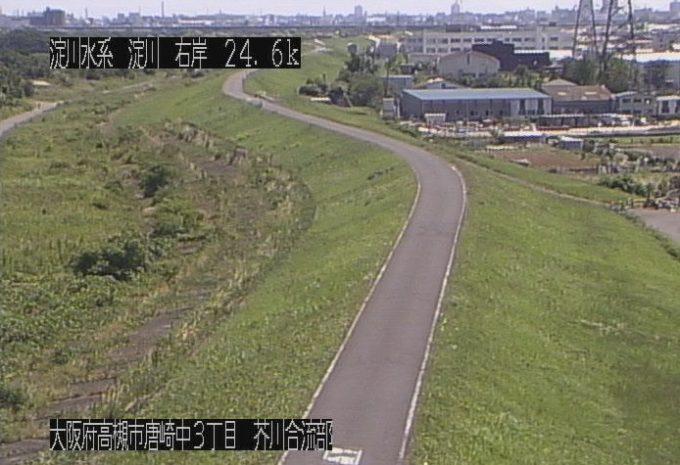 淀川芥川合流部ライブカメラ(大阪府高槻市唐崎中)