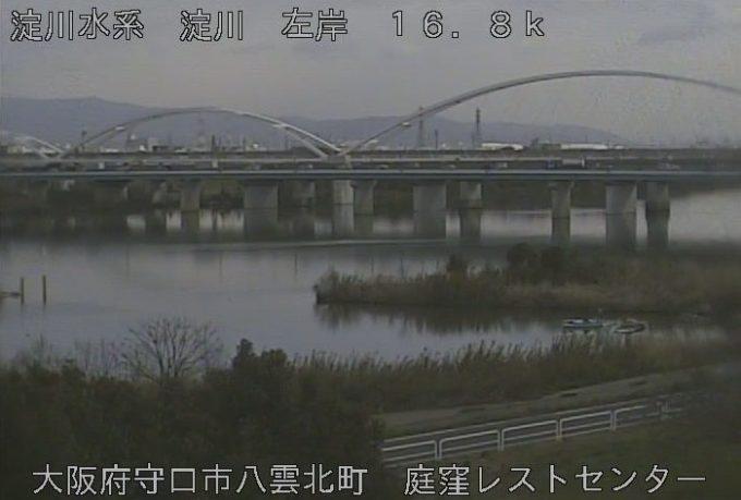 淀川庭窪レストセンターライブカメラ(大阪府守口市八雲北町)