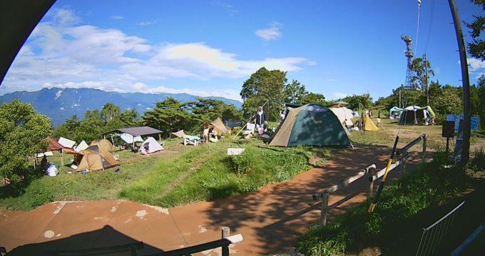 陣馬形山キャンプ場ライブカメラ(長野県中川村大草)