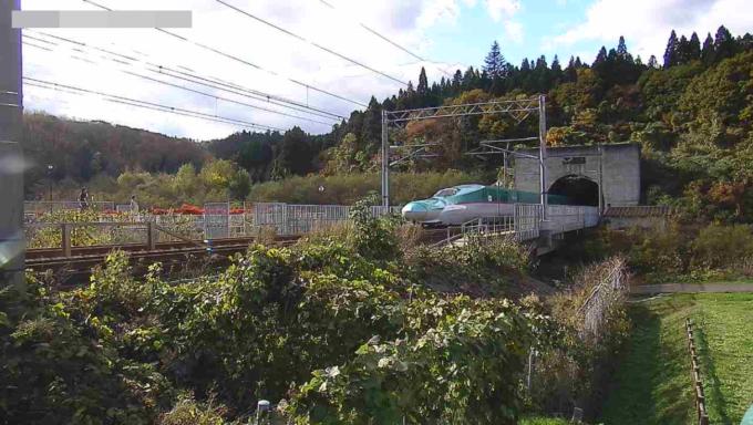 北海道新幹線青函トンネル入口ライブカメラ(青森県今別町浜名)