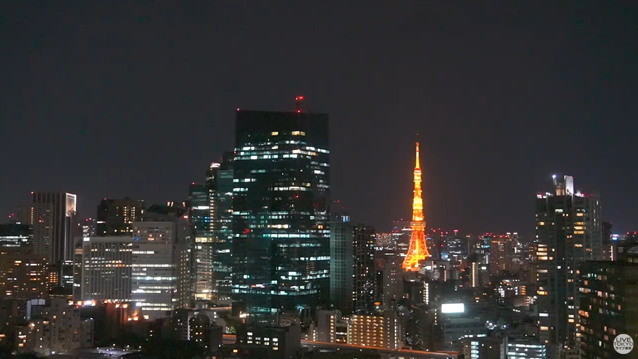 LIVETOKYO東京タワー六本木一丁目方面ライブカメラ(東京都港区赤坂)