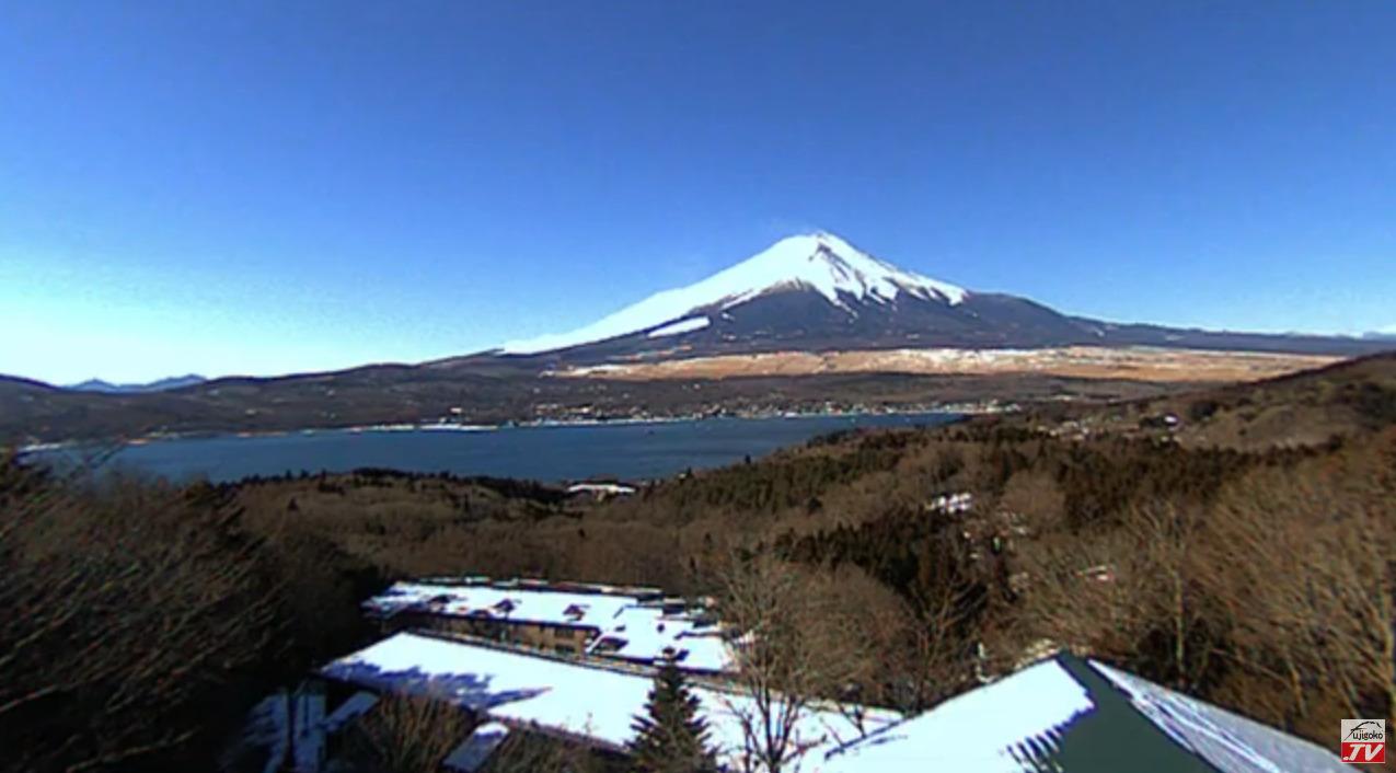 富士五湖TV富士山ライブカメラ(山梨県山中湖村平野)