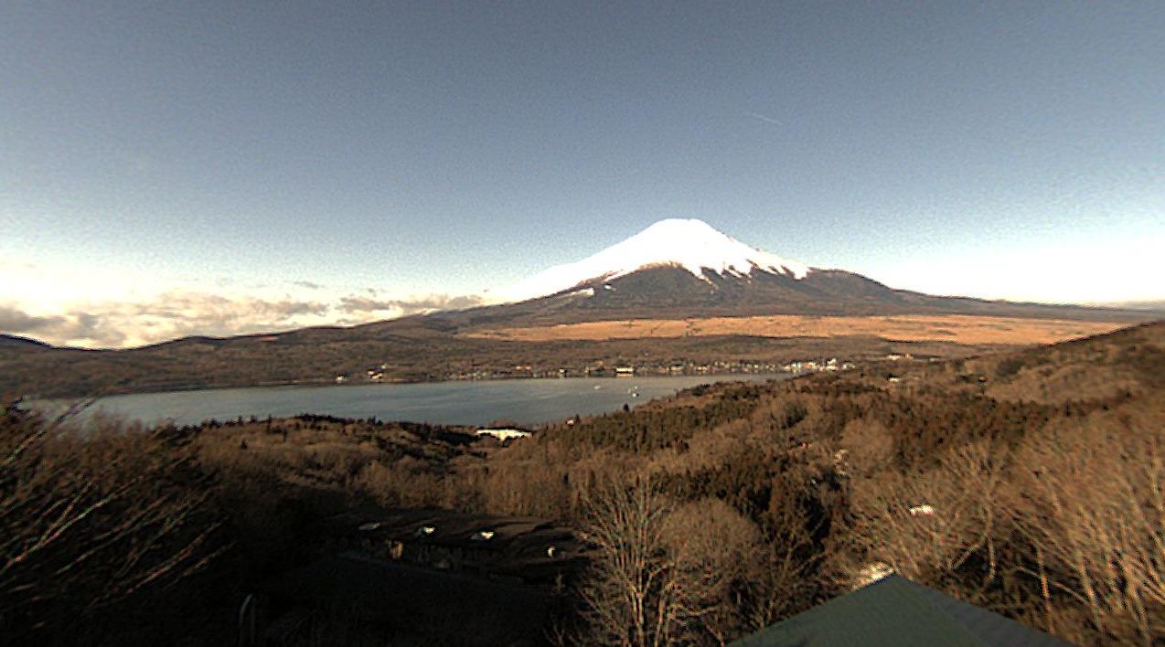 富士五湖TV山中湖高台パノラマ富士山ライブカメラ(山梨県山中湖村平野)