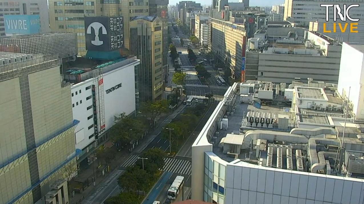 TNCテレビ西日本福岡市内ライブカメラ(福岡県福岡市中央区)