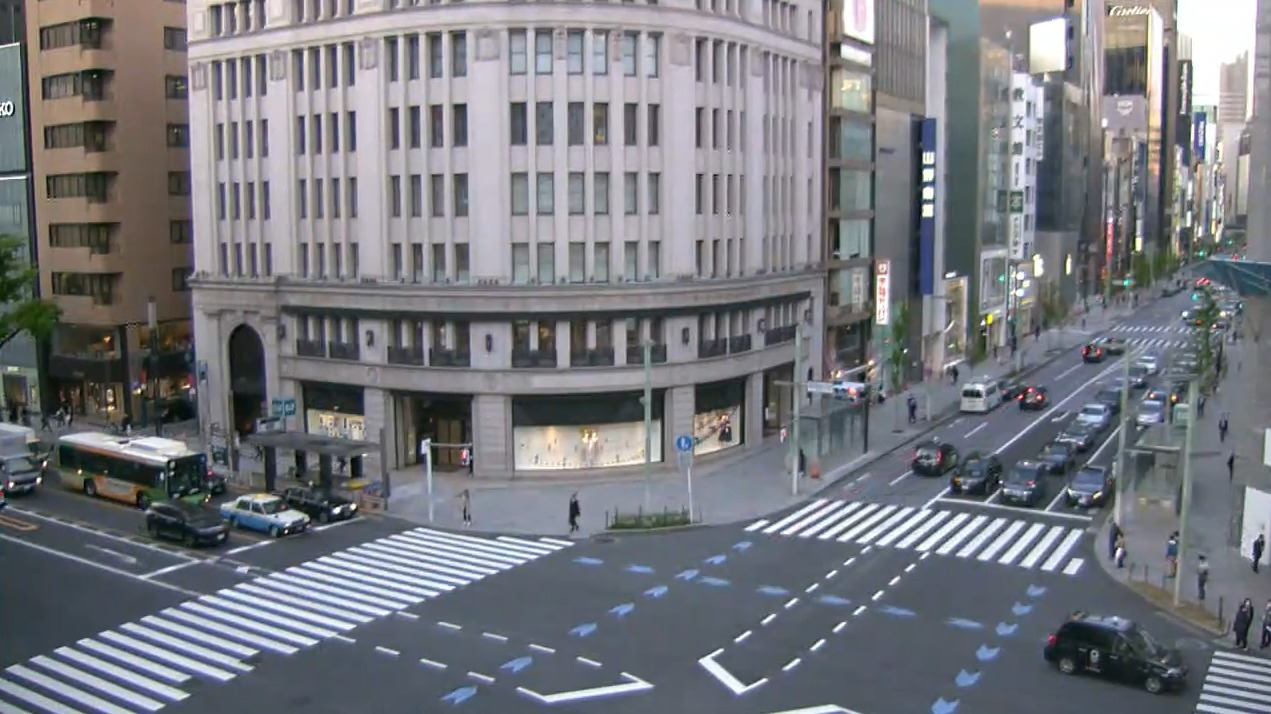 テレビ朝日銀座ライブカメラ(東京都中央区銀座)