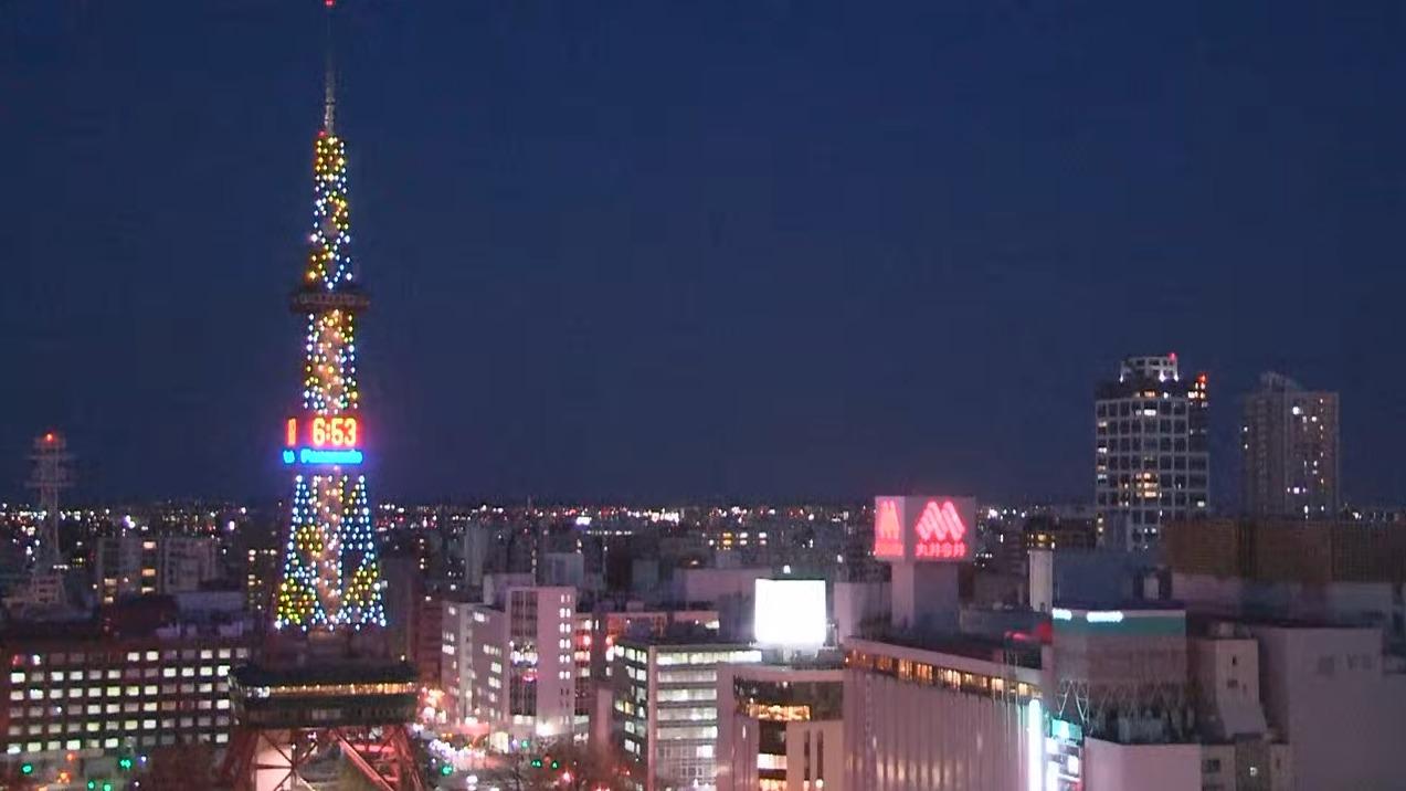TVH札幌上空天気ライブカメラ(北海道札幌市中央区)