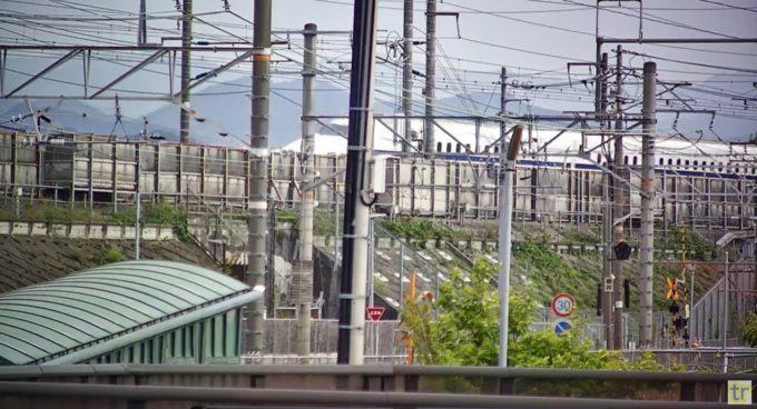 TAROKEN東海道本線東海道新幹線ライブカメラ(静岡県静岡市駿河区)
