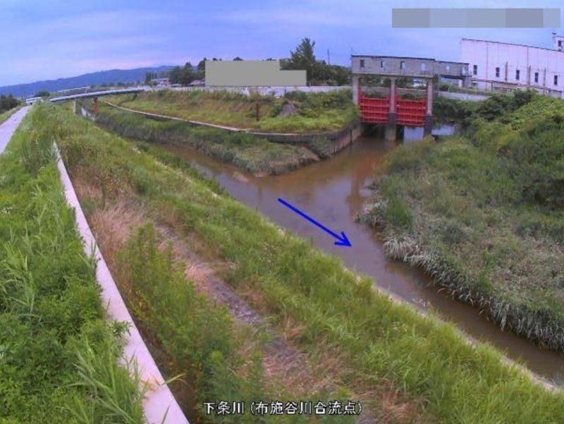 下条川布施谷川合流点ライブカメラ(新潟県加茂市天神林)