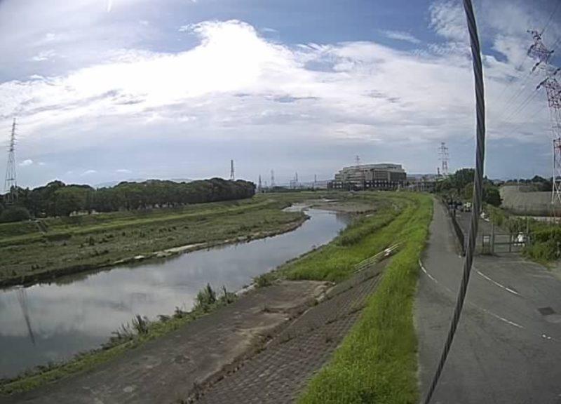 猪名川千里川合流上流ライブカメラ(大阪府豊中市原田西町)