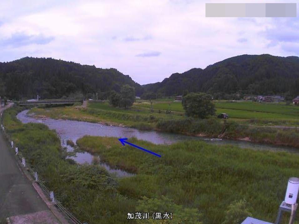 加茂川黒水ライブカメラ(新潟県加茂市黒水)