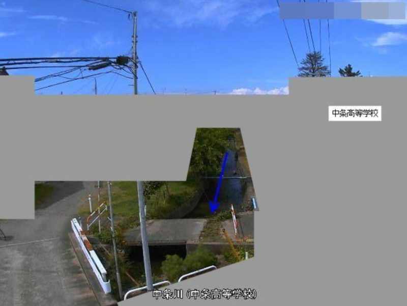 中条川中条高等学校ライブカメラ(新潟県胎内市東本町)