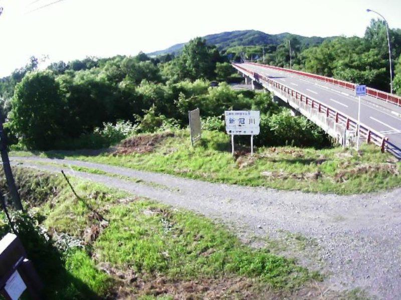 新冠川20.4KPライブカメラ(北海道新冠町若園)