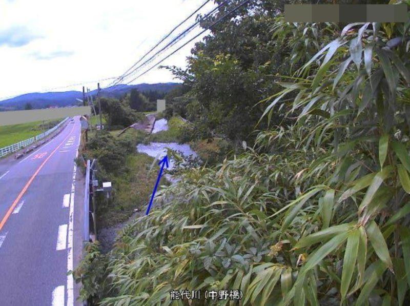 能代川中野橋ライブカメラ(新潟県五泉市中野橋)