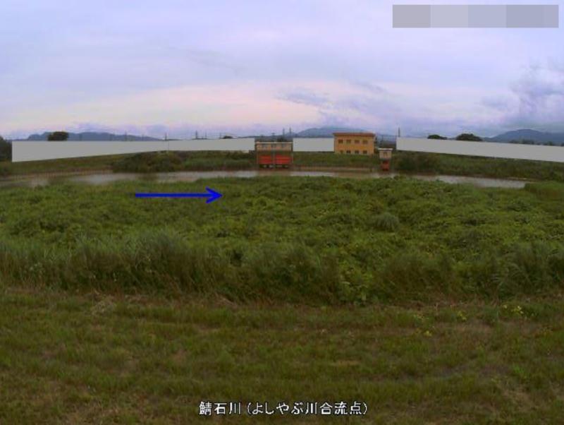 鯖石川よしやぶ川合流点ライブカメラ(新潟県柏崎市松波)