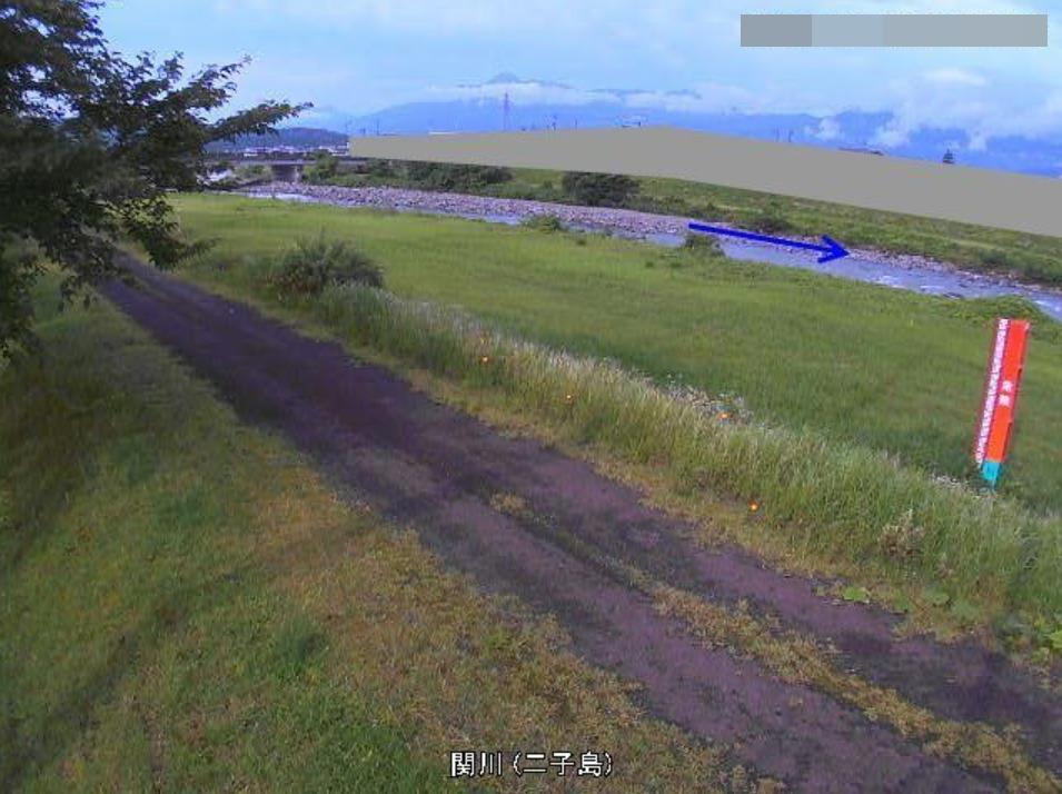 関川二子島ライブカメラ(新潟県妙高市西条)