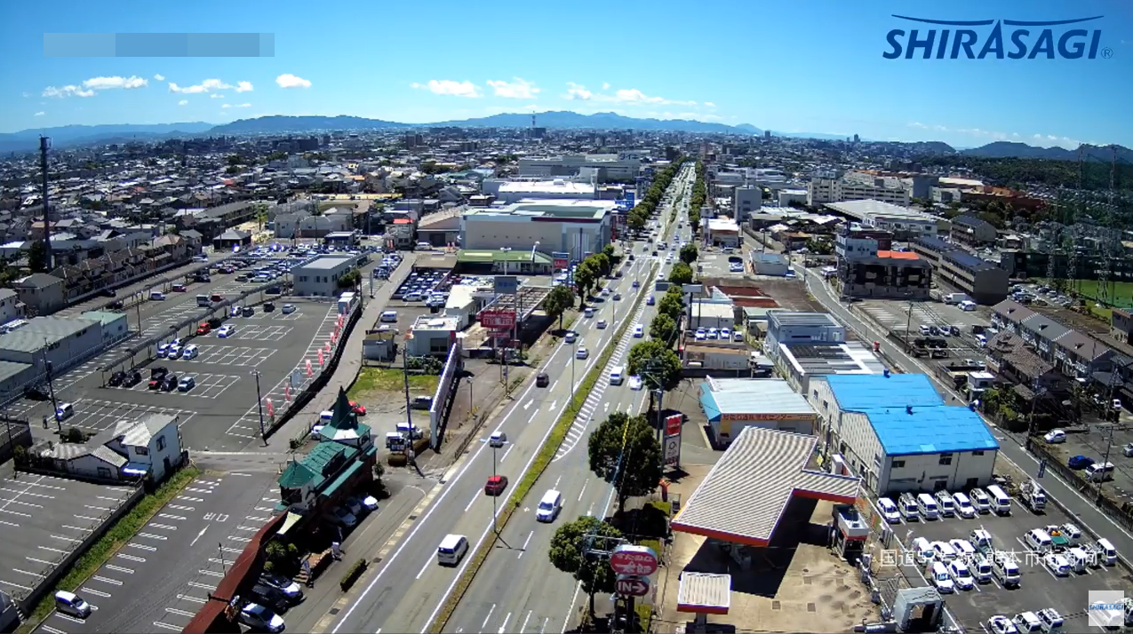 白鷺電気工業国道57号熊本市街方向ライブカメラ(熊本県熊本市東区)