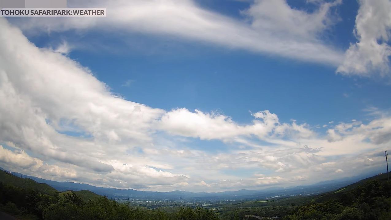 東北サファリパーク二本松市上空ライブカメラ(福島県二本松市沢松倉)